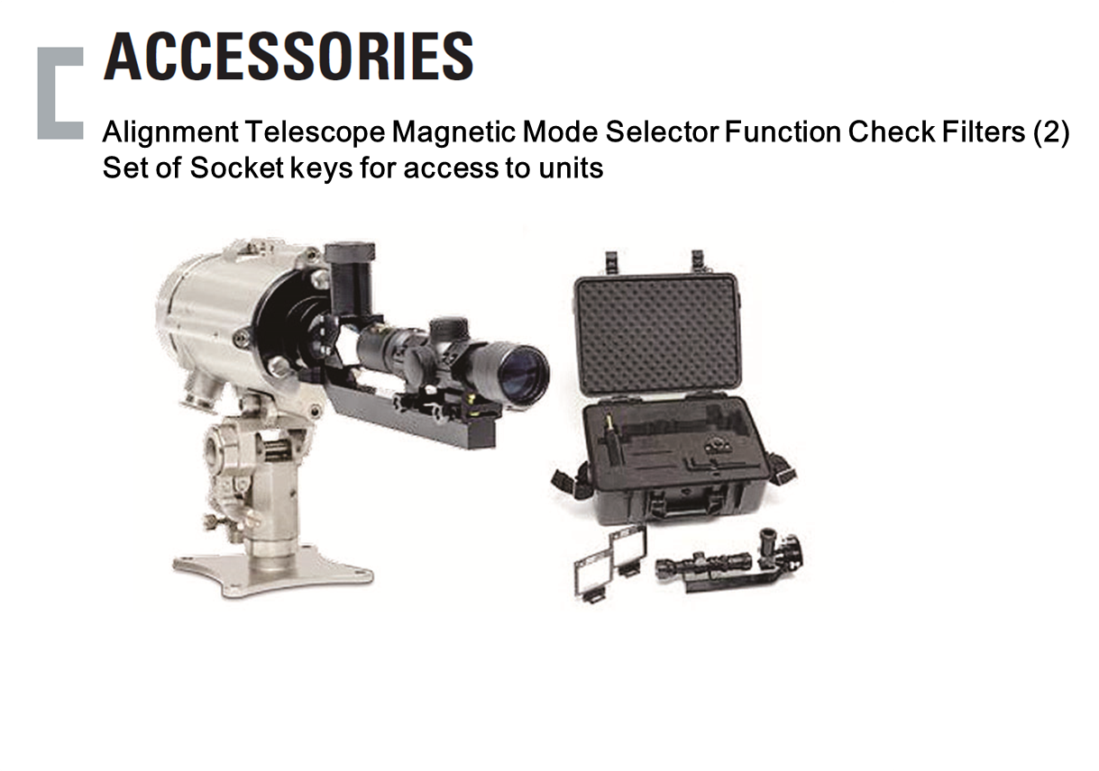 Alignment Telescope Magnetic Mode Selector Function Check Filter, Set of Socket keys for access to units